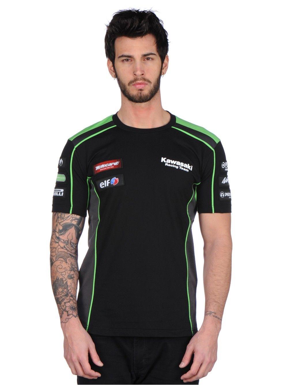 <font><b>2017</b></font> <font><b>High</b></font> <font><b>quality</b></font> <font><b>Motorcycle</b></font> <font><b>T-shirt</b></font> fit Kawasaki MOTOGP Race <font><b>T-shirt</b></font> Black/Green <font><b>Moto</b></font> <font><b>GP</b></font> t <font><b>shirt</b></font>