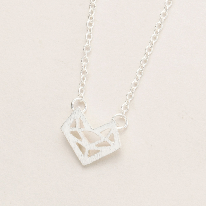Yiustar 2017 Origami Fox Necklace in Gold color Fox Stainless ...