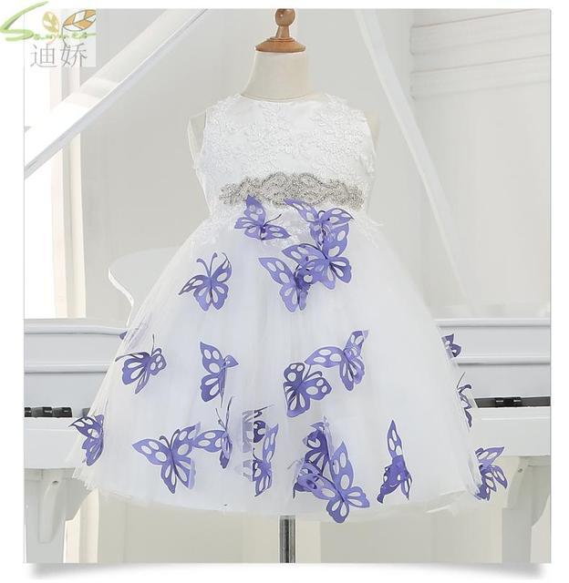 Recién nacidos vestidos de niña de navidad con arco menina princess dress diamond decoración de la correa del bebé party dress para la boda de cumpleaños