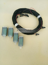 4 PIECES  LED INDOOR Footwell Light FOOT LIGHT + Wire harness  For  A4 A5 A6 Q3 Q5   3AD 947 409
