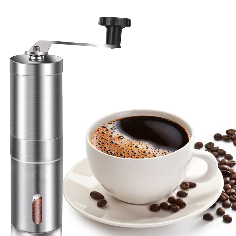 Manual Coffee Grinder, Stainless Steel Coffee Mill with Adjustable Ceramic Conical Burr, Ideal for Home, Office, Travelling-in Manual Coffee Grinders from Home & Garden