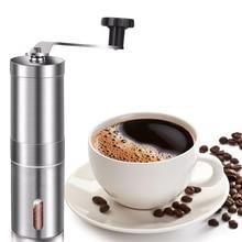 Moulin à café manuel, moulin à café dacier inoxydable avec la bavure conique en céramique réglable, idéal pour la maison, bureau, voyageant