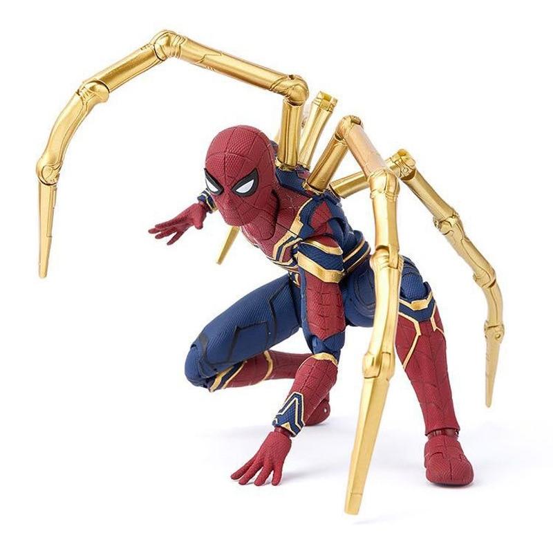 16 CM Avengers Infinity War Figure Joint mobile araignée de fer poupées Spider Man figurine d'action modèle de combat Ver avec boîte M0