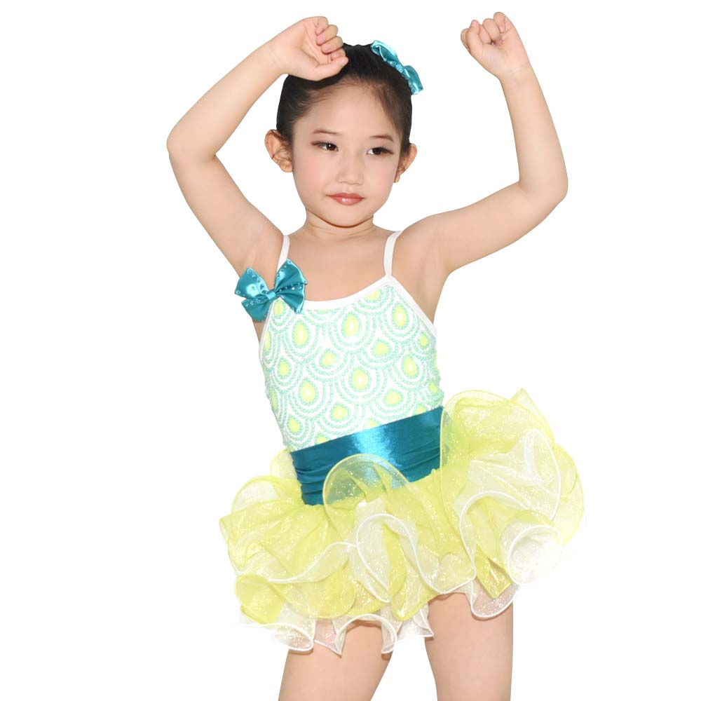 MiDee Tutu Dance Dress Solo Performance Costumes Children Ballet Leotard Kids Party Dresses