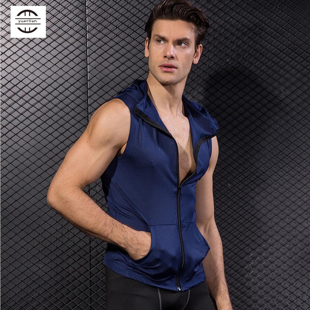 Men Sportswear Soft Compression Sleeveless Shirt Vest for Fitness Racing Running