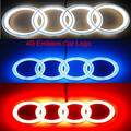 New High Quality For AUDI A3 A4 A6 A5 Badge Light Auto Led Emblem 4d shelf Adhesive18*5.8cm 7.1*2.3inch white blue or red color