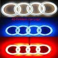 Nuevo de Alta Calidad Para AUDI A3 A4 A6 A5 Luz de la Divisa Llevada Auto Emblema 4d estante Adhesive18 * 5.8 cm 7.1*2.3 pulgadas blanco azul o rojo color