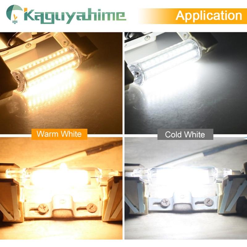 Image 5 - Kaguyahime R7s LED COB Dimmable Lamp 220V 110V 135mm 118mm 78mm LED R7S Bulb 2835 SMD Lamp Replace Halogen Light Spotlight Bulb-in LED Bulbs & Tubes from Lights & Lighting