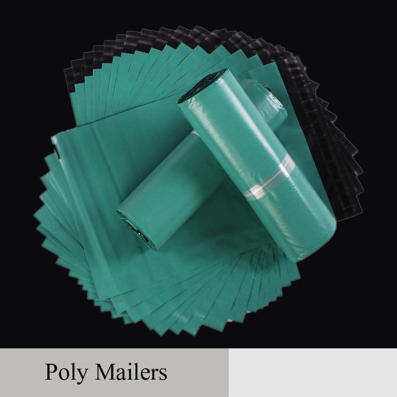 Zelená pošta Balení Poly Mailer Balení Doprava Plastová poštovní taška Obálkou Courier Velkoobchod Samolepící zásoby