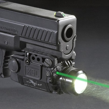 Blackout Tactical Pistol Handgun Weapon Flashlight with Green Laser Dot Sight fit 20mm Weaver Rail for Glock 17 19 black tactical ultra compact led handgun weapon pistol light xc1 mini flashlight for glock
