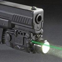 Blackout Tactische Pistool Pistool Wapen Zaklamp met Groene Laser Dot Sight fit 20mm Weaver Rail voor Glock 17 19