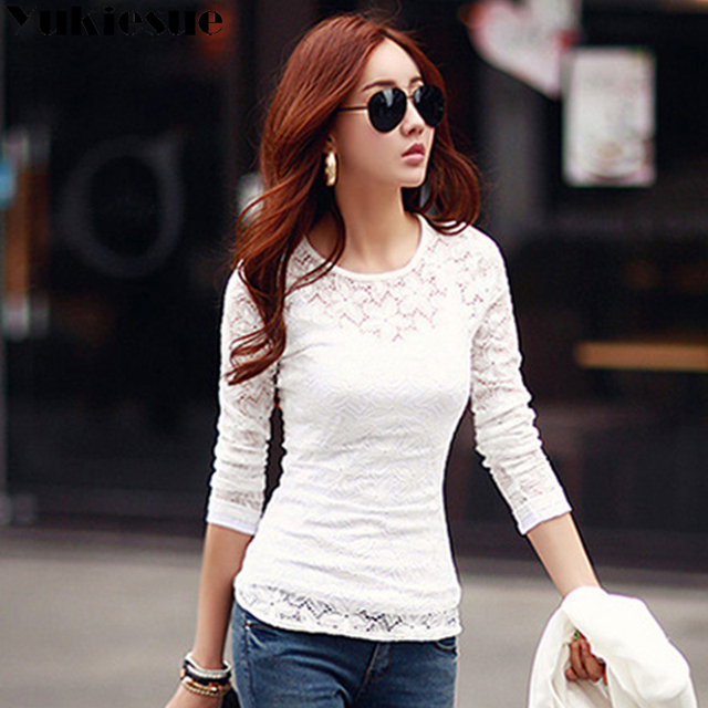 Lace blouse women's shirt blusas womens tops and blouses long sleeve winter autumn blusas mujer de moda 2018 plus size 5XL 2