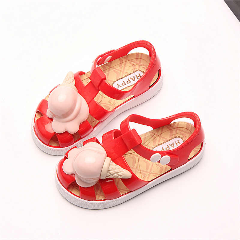 ... Mini Melissa 2018 Children Jelly Sandals Ice Cream Mini Melissa Roman  Shoes Non-slip Beach ... d75963efcca7