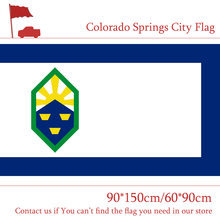 Free shipping US Colorado Springs City Flag 3x5ft 90*150cm 60*90cm Custom High-quality Polyester Banners