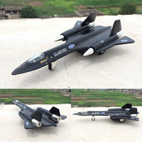 Mini USA Air Force Calloy Model Military SR 71A Reconnaissance Aircraft Scout Fighter Spy Plane Airplane
