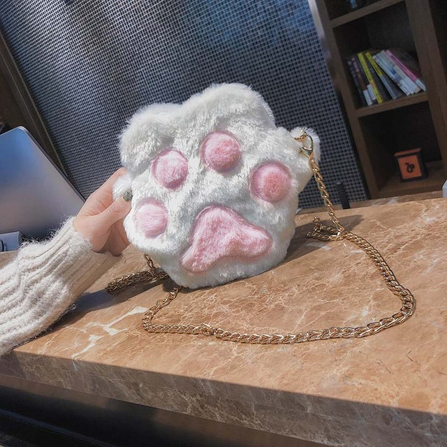 Cat paw shoulder bag