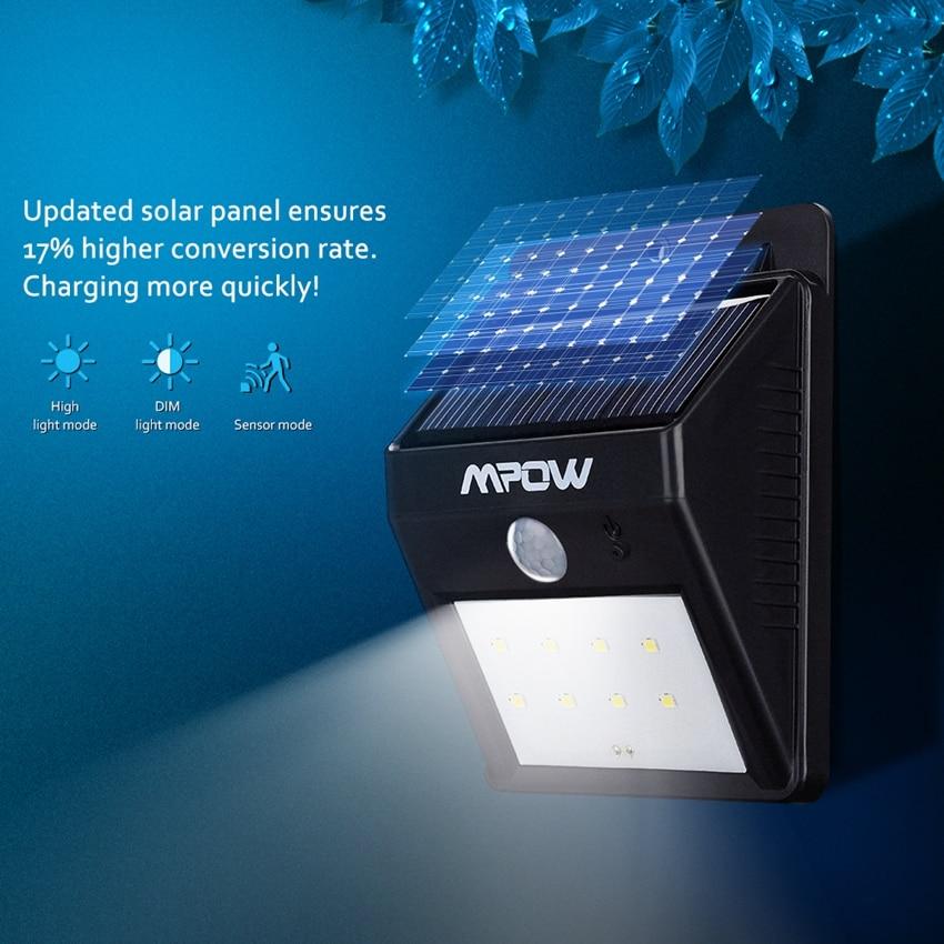 Mpow MSL3 Solaire Lumière 8 LED de Sécurité Détecteur de ...