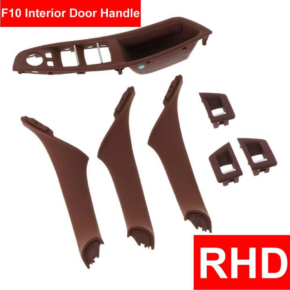 4/7PCS Set Right Hand Drive RHD For BMW 5 series F10 F11 520 525 Red Wine Gray Car Interior Door Handle Inner Panel Pull Trim
