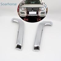 Seahorse Car Front Bumper Grill Chrome Trim Molding Decorative cover For Mitsubishi Pajero Montero V93 V97 V98 2015 2016 2017