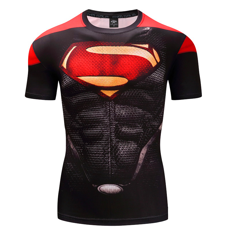 AAA New Fitness Compression Shirt Men Anime Superhero Punisher skull Spider-Man Superman 3D T Shirt Bodybuilding Crossfit shirt