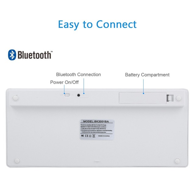 Russian French Arabic Spanish Wireless Keyboard Bluetooth 3.0 for iPad Tablet Laptop Support iOS Windows Android System 4