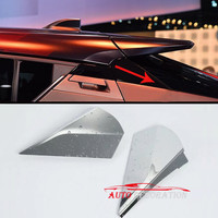 For Toyota C HR 2016 2017 2018 Car Styling Accessories Exterior Chrome Rear Spoiler Wing Triangle