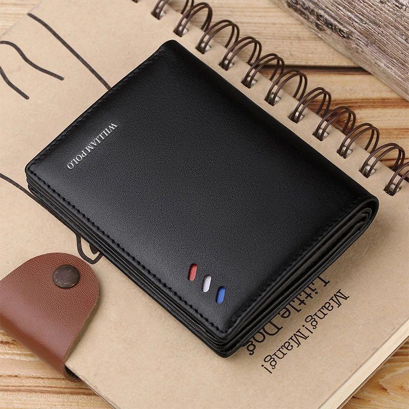 100% Genuine Leather Men Wallets Men Wallet Male Purse Short Wallet Money Clip Purses Leather Purse Wallets