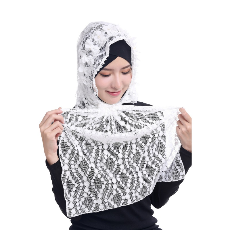 Mais recente Mulheres Rendas Hijab Muçulmano Underscarf Cap Osso Chapéu  Gorro Ninja Tampa Do Pescoço Islâmico dcd48784988