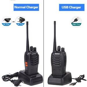 Image 2 - 2 sztuk Baofeng BF 888S Walkie Talkie USB Adapter do ładowarki Radio przenośne CB Radio UHF 888S Comunicador Transceiver + 2 słuchawki