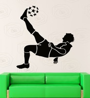 Home Decor Adesivo de Parede Esportes com bola de Futebol Do Decalque de vinil Removível Mural Decalques para Quarto dos meninos Adeviso Teenboys Esportes GW-120