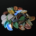 Wholesale Mix 20 Pcs /lot Agate Carving Leaf Shape Natural Stone Pendant  Fashion Women Fit DIY Necklaces  For Jewelry Making