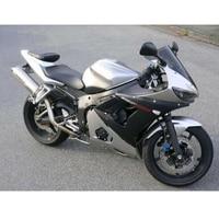 Серебристый матовый черный обтекатель КУЗОВ комплект для Yamaha R6 Yzf R6 R600 YZF R6 2003 2004 2005