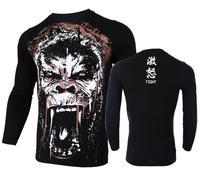 Man Long Sleeve T Shirt Gorilla Enrage Mma Fight Tops Fightwear Boxing Jerseys Tops