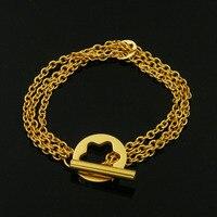 Fashion Hollow Pendant Bracelet Silver OT Buckle Men and women Lucky Bracelet customizable wholesale