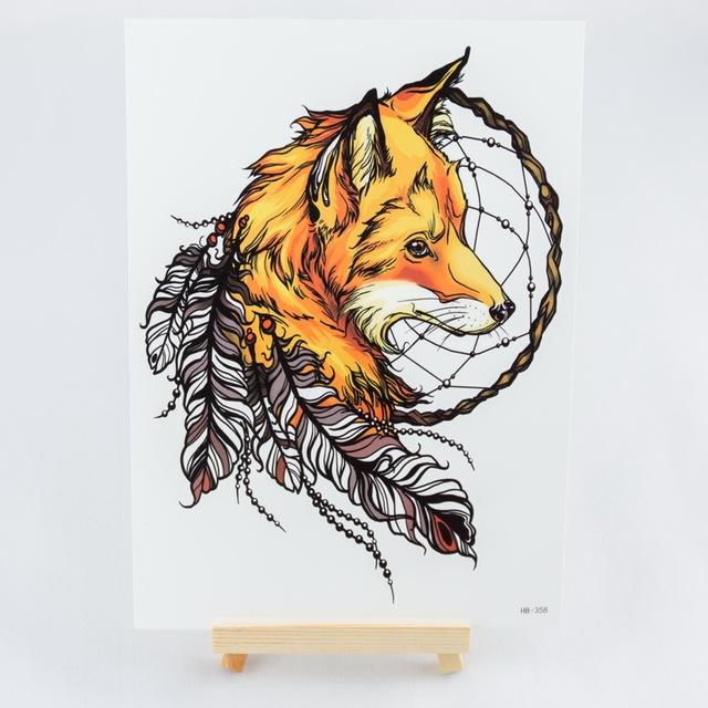 Popular Dreamcatcher Animal Temporary Tattoos