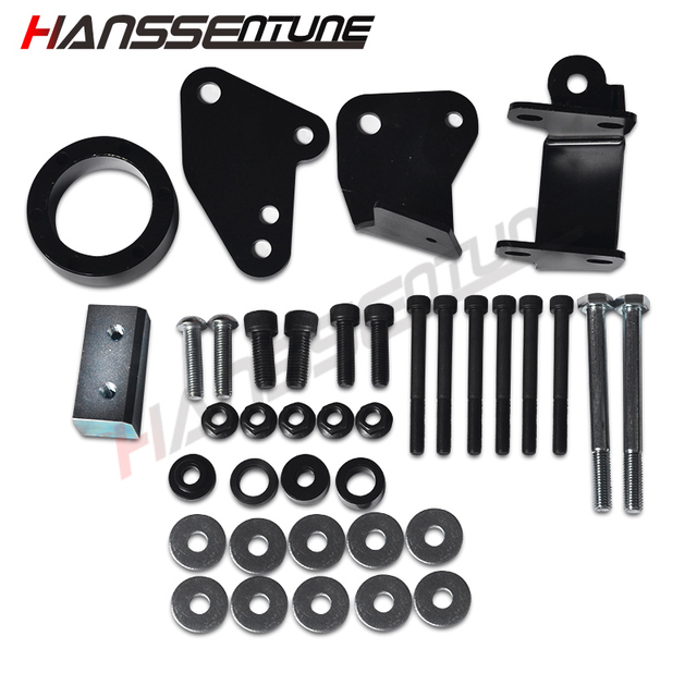 US $197 4 6% OFF|HANSSENTUNE 2WD 4WD Front Bolt In Diff Drop Kit 2