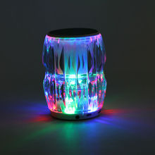 Abalon Led Flashing Mild Music Speaker Bluetooth Speaker Wi-fi Stereo Mini Moveable Mp3 Participant Audio Assist Tf Card Aux-In
