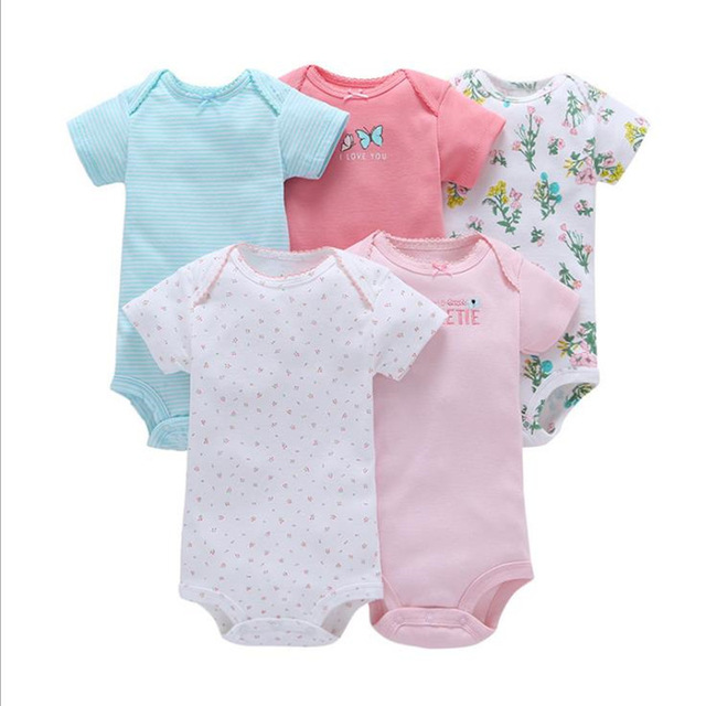 5pcs  baby jumpsuit short-sleeved cotton leotard suit carters bodysuit body  bebe girl bodysuit for baby boys ropa de bebe 6M-24M c09fd4e3012