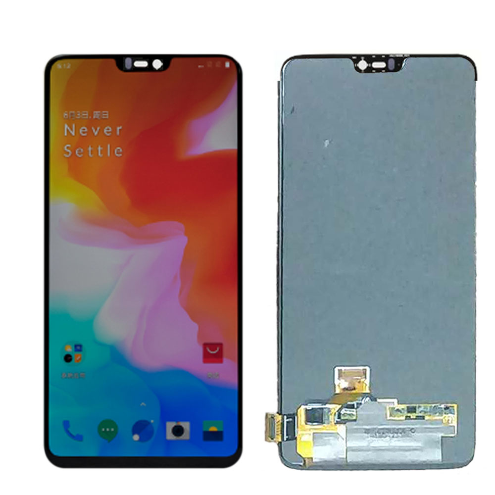 Original Amoled LCD For <font><b>Oneplus</b></font> 6 <font><b>A6000</b></font> LCD Display Touch Screen Digitizer Assembly replacement one plus 6 1+6 6.28 inch LCD image
