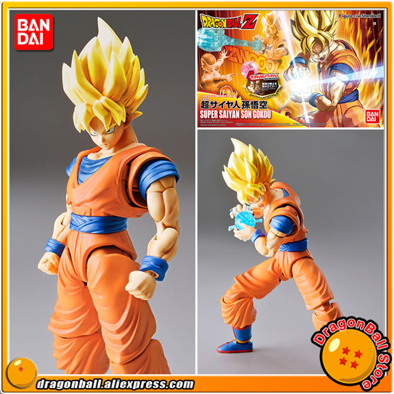 Dragon Ball Z Original BANDAI Figure-rise Standard Assembly Action Figure - Super Saiyan Son Goku Plastic Model anime dragon ball super saiyan 3 son gokou pvc action figure collectible model toy 18cm kt2841