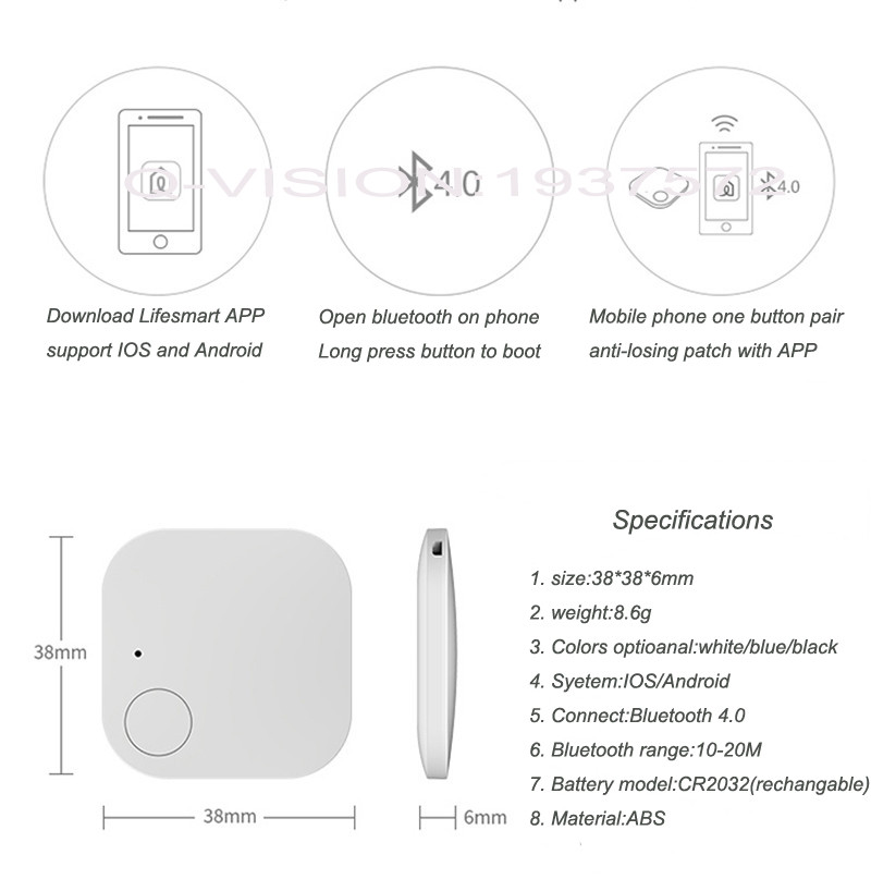 Lifesmart Bluetooth 4.0 Intelligent Patch Anti-lose 10-20M Control Distance Bi-direction Alarm Wearable Device Smart Home Switch-12