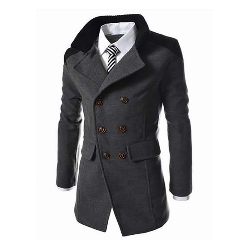 ICE Cream Mens Autumn Winter Zipper Slim Long Sleeve Suit Jacket Trench Casual Coat Top Blouse