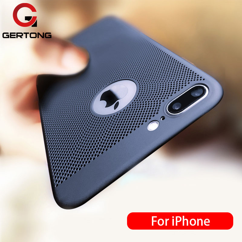 Ultra Slim Phone Case For iPhone 6 6s 7 8 Plus Hollow Heat Dissipation Cases Hard PC For iPhone 5 5S SE Back Cover Coque X S MAX ultra slim phone case