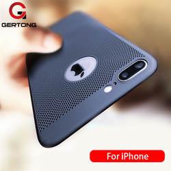 Ультра тонкий телефон чехол для iPhone 6 6s 7 8 Plus полые рассеивания тепла Случаях Жесткий PC для Iphone 5, 5s, se задняя крышка Coque X S MAX