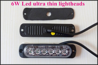 Extra Thin 6W Led Car External Warning Lights Surface Mounting Grill Light Led Strobe Light Lightheads