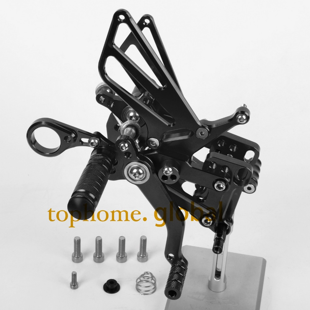 For BMW S1000RR 2009 -  2014 Motorcycle Parts CNC Rearsets Foot Pegs Rear Set Black 22010 2012 2013