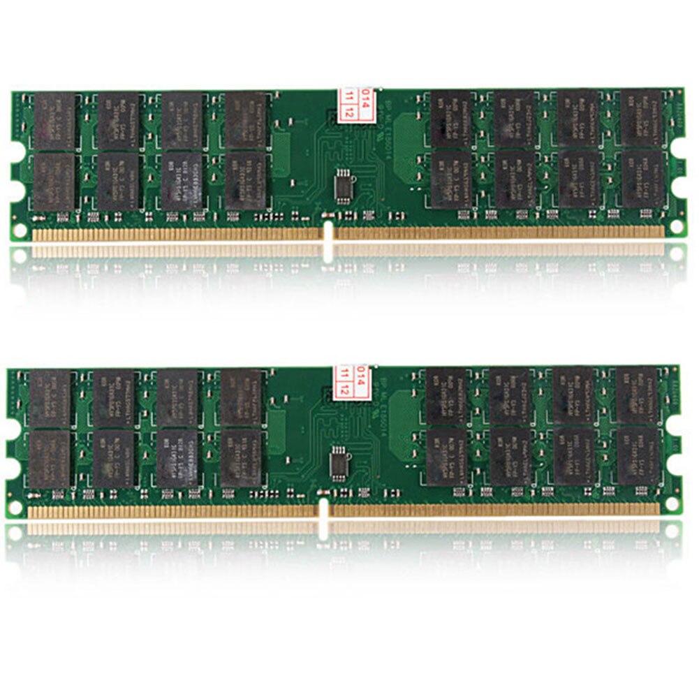 2 Pcs 4GB DDR2 800MHZ PC2 6400 240 Pins Desktop Memory RAM For AMD Motherboard EM88
