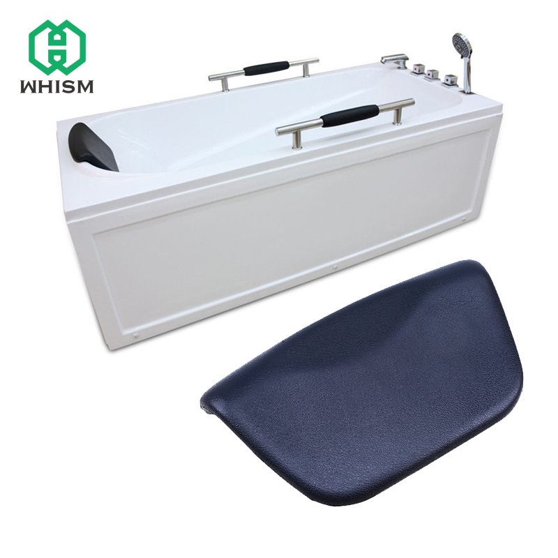 WHISM Luxury SPA Waterproof PU Bath Pillows Bathtub Headrest Suction Cup Foam Bathroom Body Mist Non-Slip Bath Tub Pillow