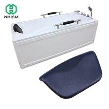 WHISM Luxury SPA Waterproof PU Bath Pillows Bathtub Headrest Suction Cup Foam Bathroom Body Mist Non-Slip Bath Tub Pillow