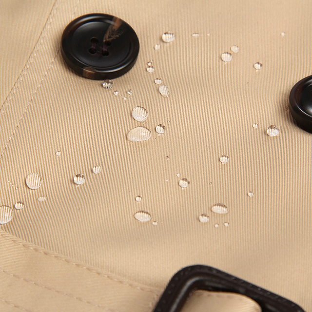 Autumn New Classic Double Breasted Waterproof Trench Coat 4
